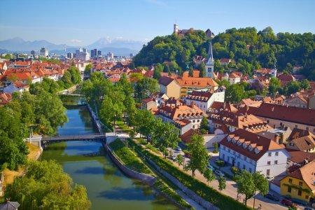 العاصمه ليوبليانا في سلوفينيا