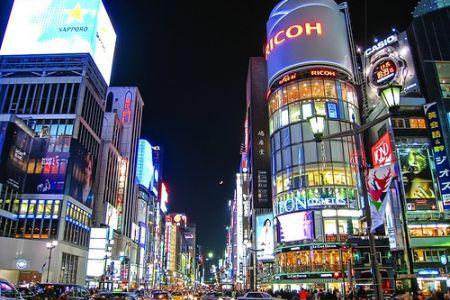 حي غينزا في في طوكيو - اليابان
