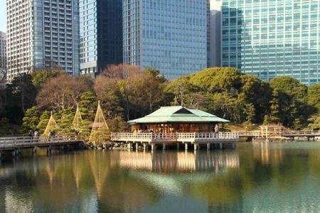 حدائق هاماريكيو في طوكيو - اليابان