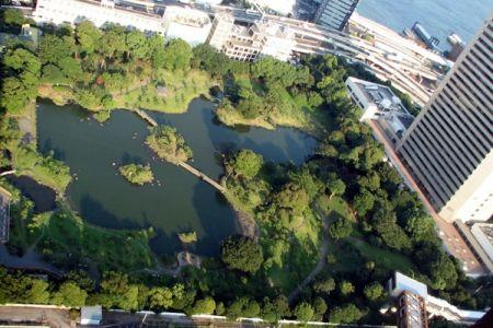 حديقة کيو شيبا ريکيو في طوكيو - اليابان