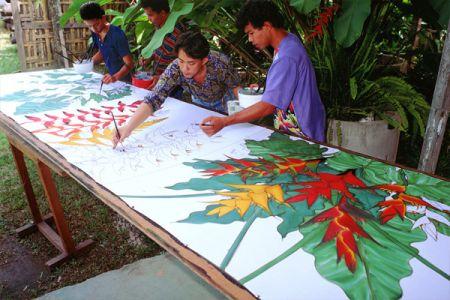 قرية الاعمال اليدوية في كيلانتان - ماليزيا