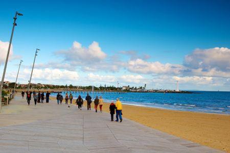 شاطئ سانت كيلدا في مدينة ملبورن
