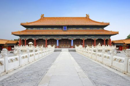 المدينة المحرمة في متحف القصر في بكين