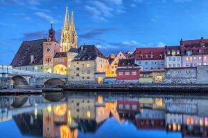 منظر جميل بمدينة ريغنسبورغ