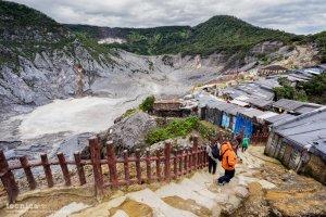 بركان تانكويان في مدينة باندونغ