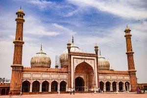 المسجد الجامع فى دلهي