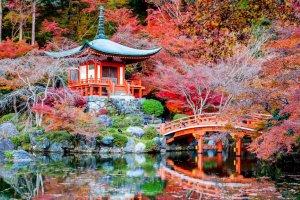 الطبيعة الخلابة في كيوتو