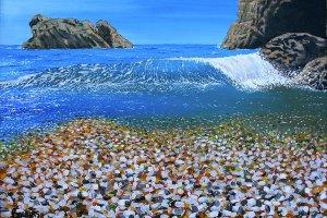 الشاطئ الزجاجي في كاليفورنيا