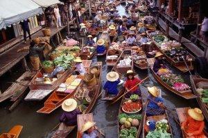 أحد الأسواق في تايلاند