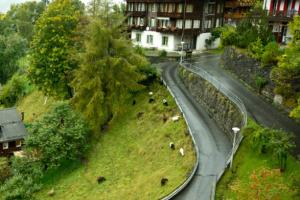 قرية وينجن في سويسرا
