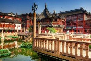 حديقة يويوان في مدينة شانغهاي الصينية