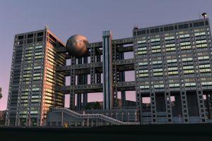 مبنى تلفزيون فوجي في طوكيو - اليابان