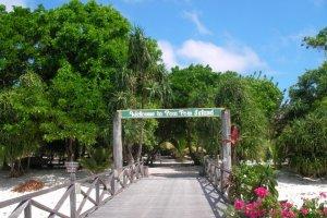 مدخل احد شواطئ جزيرة بولا بوم بوم في ماليزيا