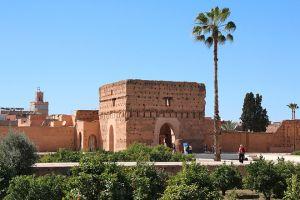 القصر البديع في مراكش بالمغرب