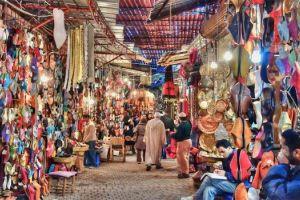 مدينة الأسواق التجارية في مراكش
