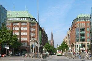 شارع مونكيبيرغ في مدينة هامبورغ الألمانية