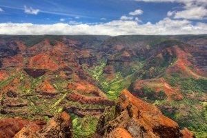 الوان وادي ويما في هاواي