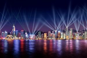 الأضواء الراقصة في هونج كونج - الصين