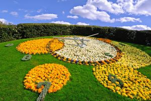 ساعة الزهور في جنيف - سويسرا