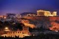 لقطة ليلية لأحد معابد اليونان