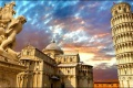 برج بيزا المائل في ايطاليا