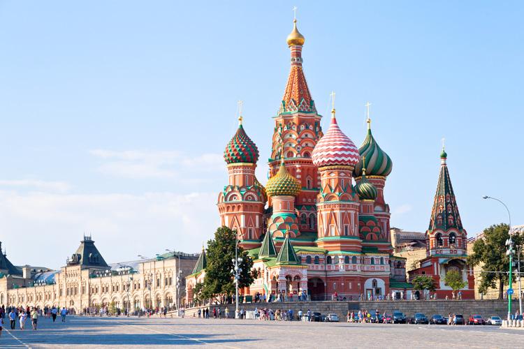 كاتدرائية سانت باسيل في موسكو روسيا سائح